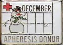 Apheresis Donor December (2007) Pin