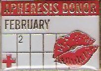 Apheresis Donor February (2007) Pin