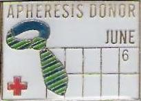 Apheresis Donor June (2007) Pin
