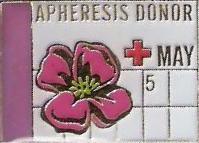 Apheresis Donor May (2007) Pin