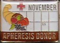 Apheresis Donor November (2007) Pin