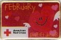 Platelet Donor February (2008) Pin
