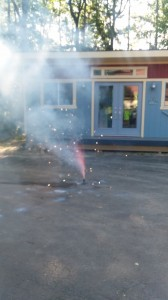 Small Fireworks in Driveway