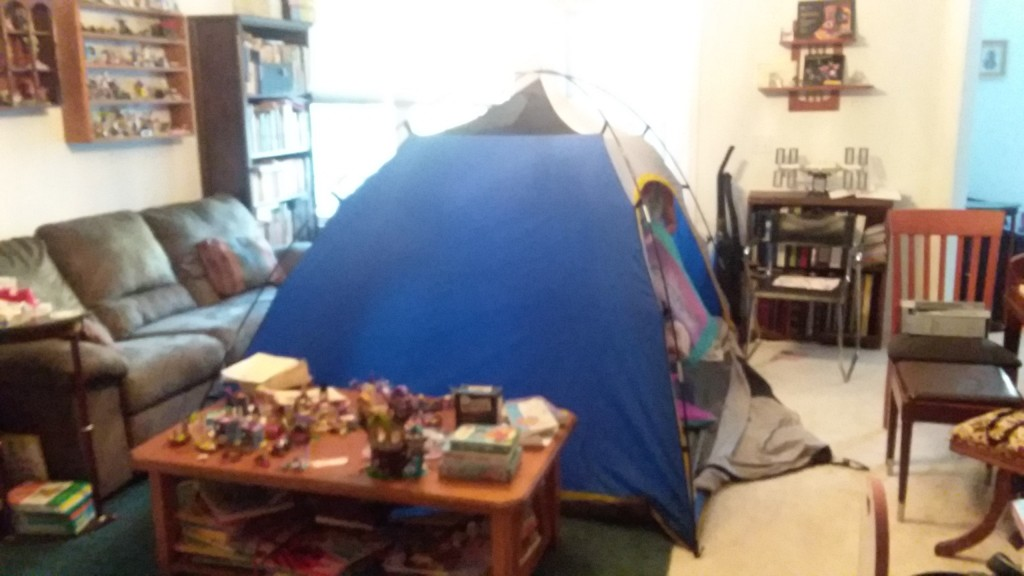 Camping Tent In Living Room